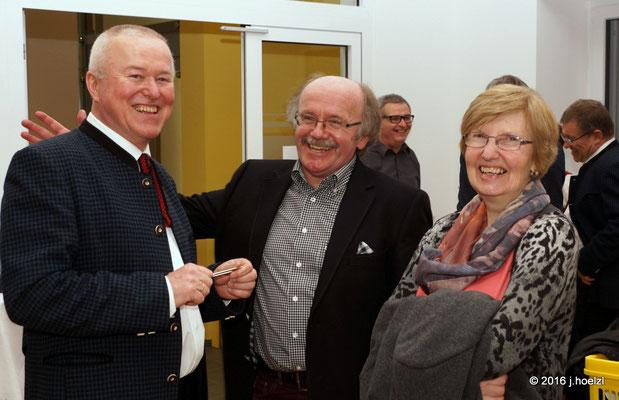 Fritz Stoiber mit Gattin und Johann Zimmerer