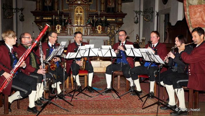 Holzbläserensemble vom Musikverein Haibach