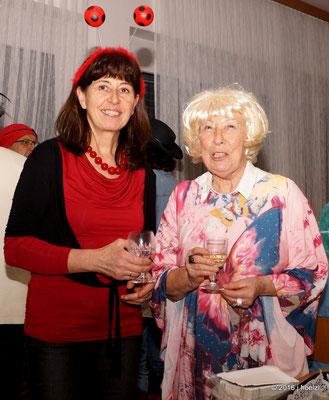 Aloisia und Gitti, die Spenderinnen der Geburtstagsjause