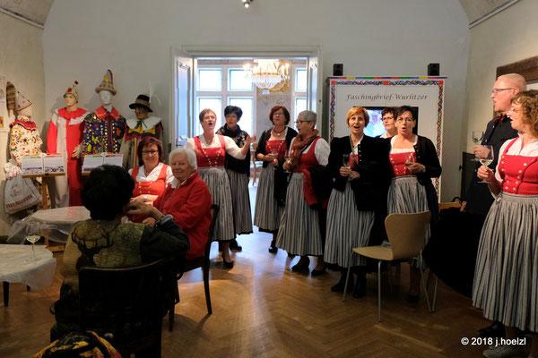 Musikalischer Dank an die Abordnung aus Paudorf für das Glas Wein