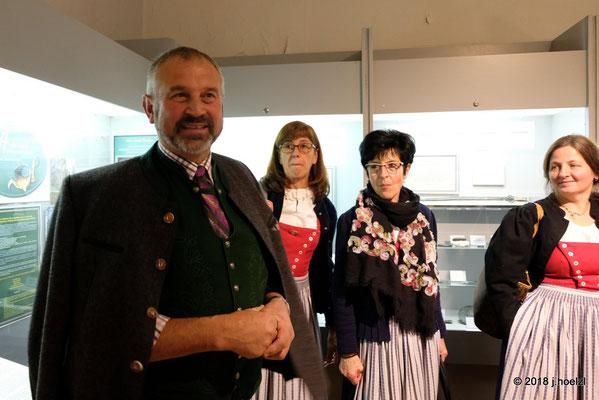 Kammerhofmuseum - der Bürgermeister von Bad Aussee Franz Frosch besucht uns