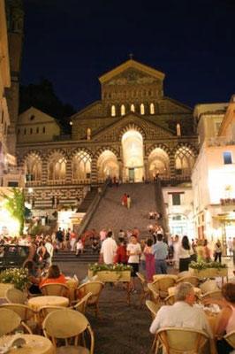 Duomo di Amalfi di sera