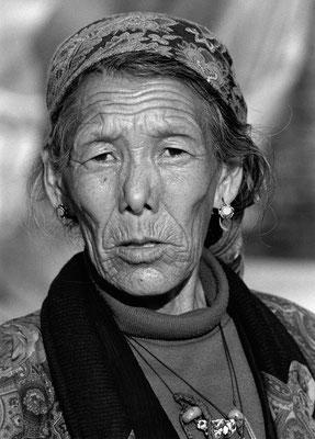 Bäuerin in Srigha Bahal, Kathmandu, Nepal