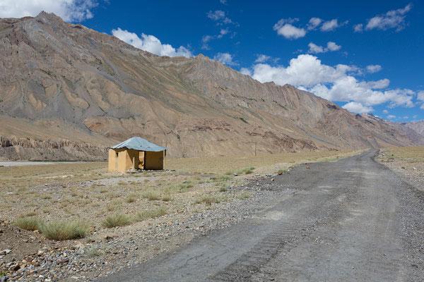 Straßenprojekt Zanskar-Indus mit Raststätte