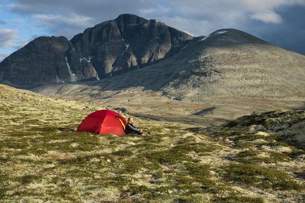 Camp im Bergedalen mit Rondslottet
