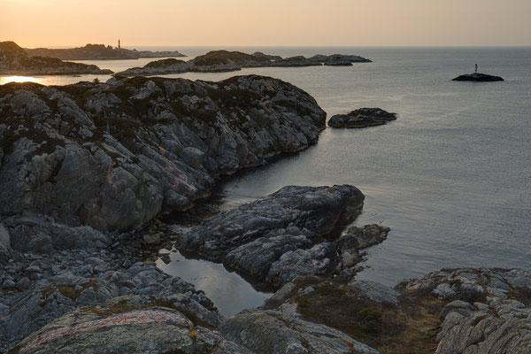 Slåtterøy und Gisøya von Selsøy