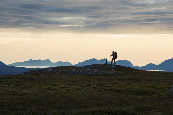 Auf Riddabårre, Blick nach Steigen und Engeløya