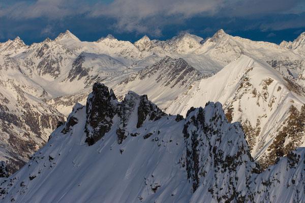 Gotthard-Berge vom Pizzo Gararesc, Schweiz