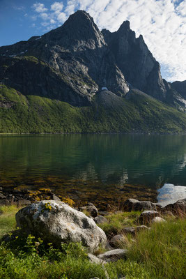 Nordfjorden-Sørbukta mit  Keipen (Sjunkhatten NP)