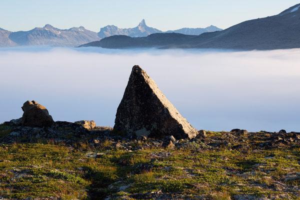 Kirkespiret über dem Tasermiutfjord, Grönland