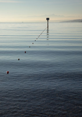 Überlinger See, Blick auf Säntis und Mainau