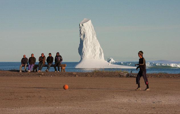 Fussball in Qeqertarsuaq