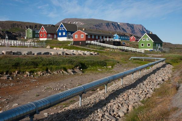Fernwärme in Qeqertarsuaq, Disko