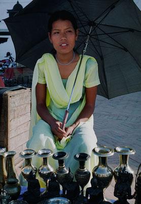 Pramila Thapa Magar, Händlerin, Kathmandu, Nepal