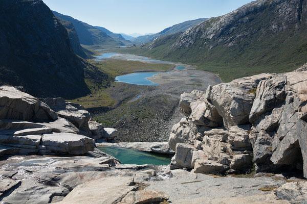 Austmannadalen vom früheren Wasserfall