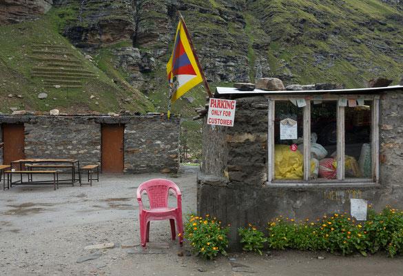 Raststätte Koksar, Manali-Leh Highway, Himachal Pradesh, Indien
