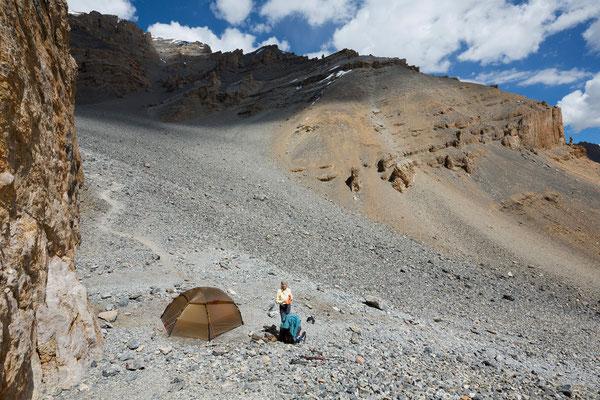 Parang La high camp, Indien