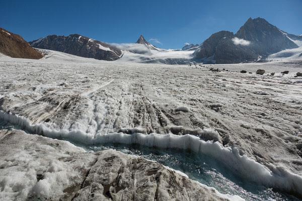 Miyar-Gletscher mit Kang La