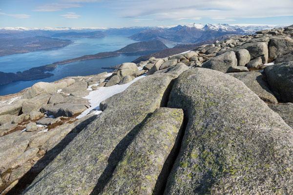 Manen, Kvinnheradsfjord mit Rosendal, Melderskin und Folgefon