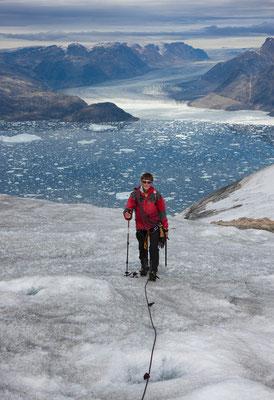 Blick auf Sermilik und Isgletscher (Apuserajik)