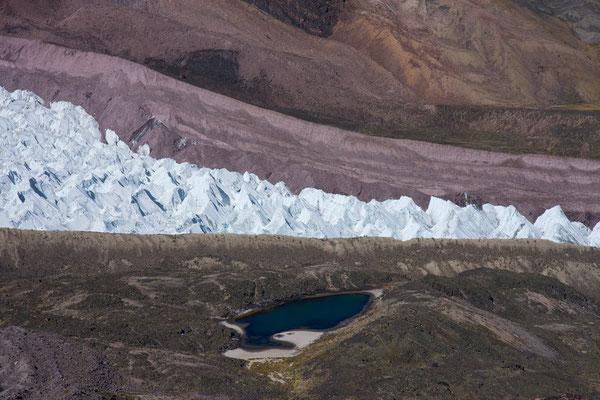 Gletscher im Korridor, Vilcanota, Peru