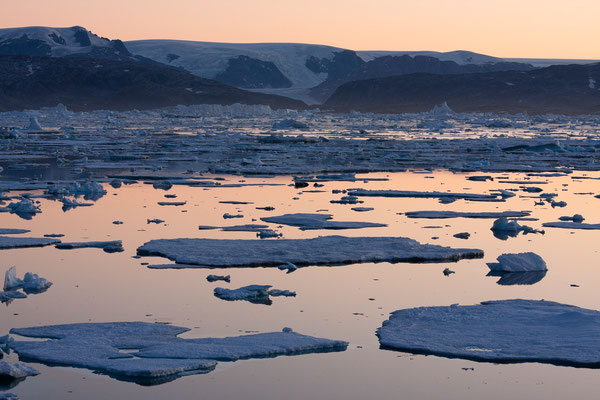 Sermilik, Johann Petersen Fjord mit Inlandeis, Grönland
