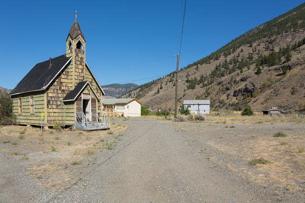 Nlak'pamux Church, Spences Bridge, Thompson River