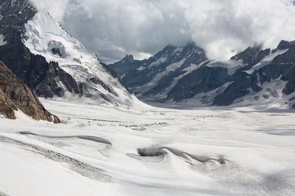 Kang La, Blick zum Miyar-Gletscher