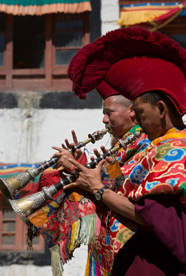 Gyaling-Spieler, Klosterfest Phiyang