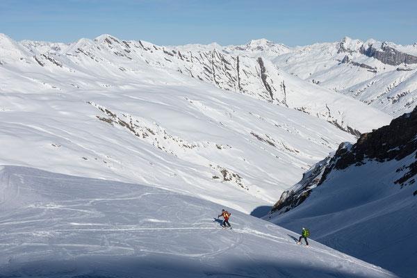 Aufstieg zum Gletscherhorn, Bergalga/Avers