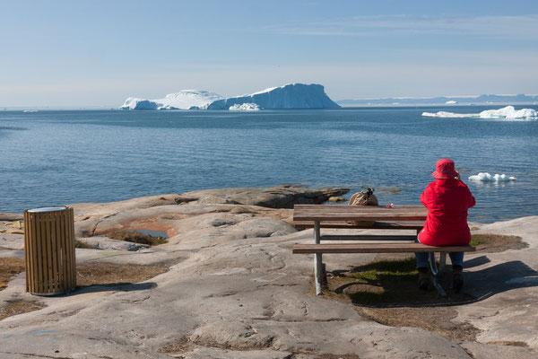 Ilulissat, Blick auf Diskobucht und Disko-Insel