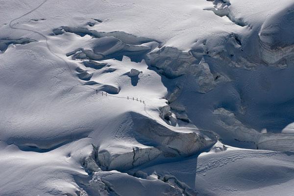 Bellavista-Gletscher vom Bernina, Schweiz