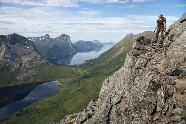 Aufstieg zum Ressan, Tjongsfjorden