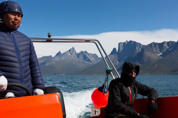 Auf dem Tasermiutfjord mit Ketil und Ulamertorsuaq