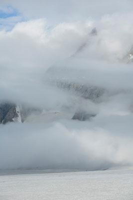 namenlose Berge am Miyar-Gletscher