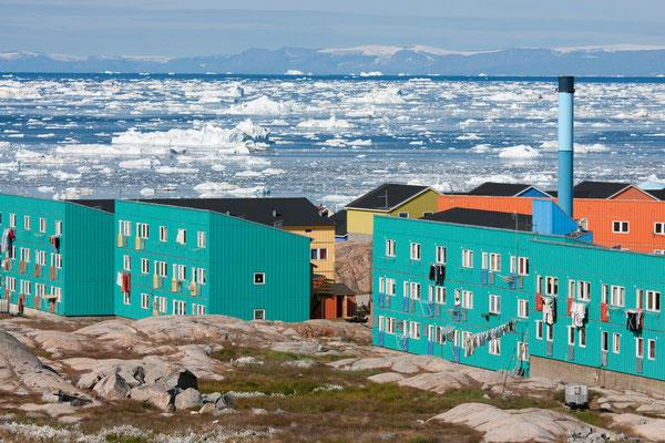 Ilulissat mit Diskobucht und Disko-Insel