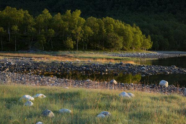Einarvika am Sjunkfjorden (Sjunkhatten NP)