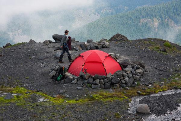 Hogsback-Camp, Mt Baker, North Cascades, USA