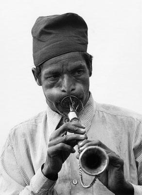 Musiker im Helambu, Nepal