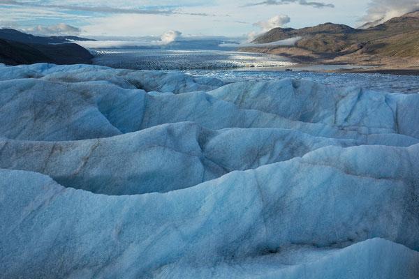 namenloser Gletscher, Blick auf Jespersen Bræ