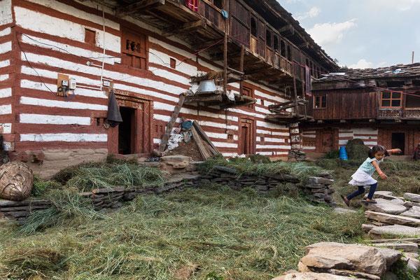 Hof, Old Manali, Indien