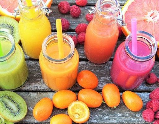 Klar, Smoothies sind aufwändiger und anders, aber ein Vitaminkick ist auch nicht zu verachten...