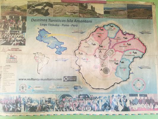Eine Karte über die Gemeindeaufteilung hing bei Demetrio im Haus