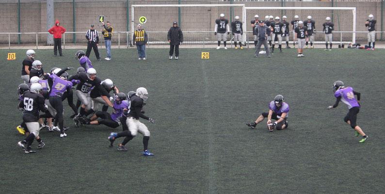 Field goal ganador Black Ravens