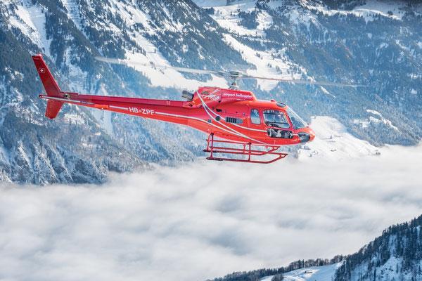 Elite Flights, AS 350 Ecureuil, HB-ZPF, Rundflüge, Helikopterflug, Luftaufnahme, Fotoflug, Karin Gubler