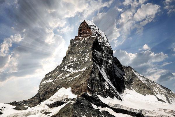 Elite Flights, Alpenrundflug mit Gletscherlandung, Helikopterflug,  Gletscherflug, Gletscherapéro, Zermatt, Matterhorn