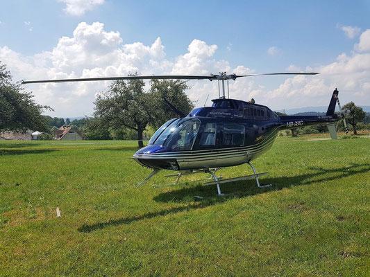 Elite Flights, HB-XXO, Bell 206 Jet Ranger, Schnupperflug, Beromünster,  selbst Helikopter fliegen, selber Helikopter fliegen