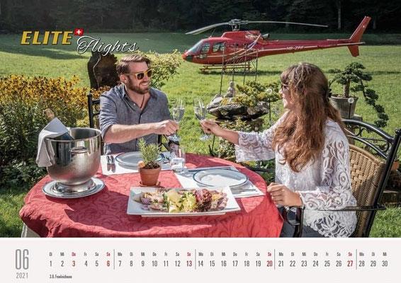 Elite Flights Kalender 2021, Juni, AS 350 B2 Ecureuil, HB-ZPF, Madiswil