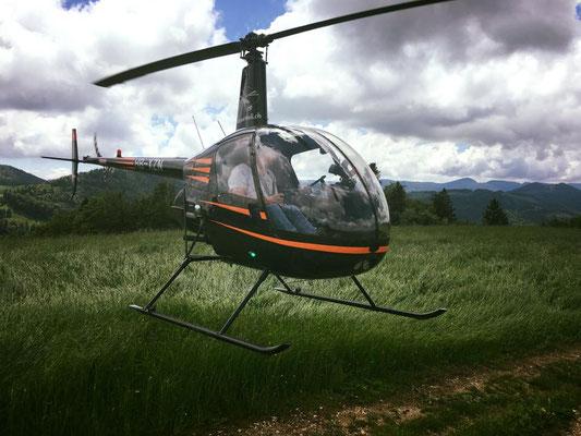 Elite Flights, HB-XZN, Robinson R22, Schnupperflug, Beromünster,  selbst Helikopter fliegen, selber Helikopter fliegen