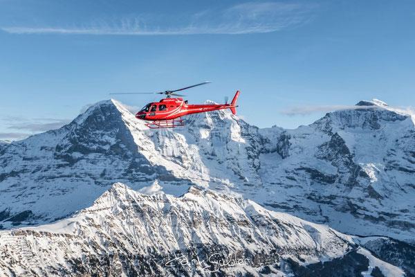 Elite Flights, HB-ZPF, AS350 B2 Ecureuil, Luftaufnahmen, Karin Gubler, Eiger, Mönch, Jungfrau